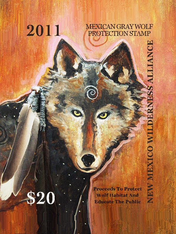 New Mexico Wolf Stamp designed by Virginia